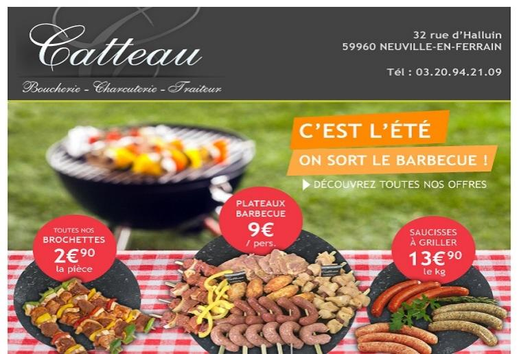 Newsletter Boucherie Catteau
